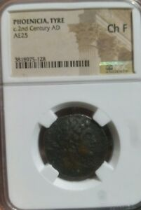PHOENICIA TYRE c. 2nd Century NGC Ch F.  RARE Roman Provincial Coin