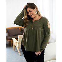 Long Sleeve Floral Tops Summer Casual T-Shirt  Womens Crew Neck Blouse Ladies