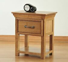 Toulon solid oak furniture small side end lamp table with drawer