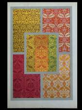 TISSUS, BROCATELLES, 16e - LITHOGRAPHIE 1877  DUPONT-AUBERVILLE,