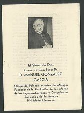 Estampa Siervo Manuel andachtsbild santino holy card santini