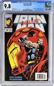S278. IRON MAN #304 Marvel CGC 9.8 NM/MT (1994) 1st HULKBUSTER ARMOR; NEWSSTAND