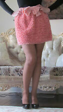 RED VALENTINO Runway Coral/Pink Bow,Full Ruffles dress-y skirt It 40,US 2-4/XS-S