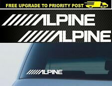 Alpine Stickers 200mm - Car Audio JDM Stereo Subwoofer Bass Decal x2