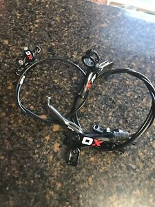 Avid X0 carbon hydraulic disc brakeset, front and rear
