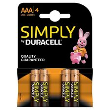 Duracell Simply AAA 1.5 v Battery - Pack of 4 | MN2400