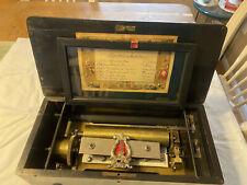 Antique 1800s Mandoline Piccolo #6841 6 Song Musical Box