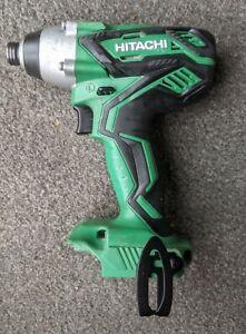 "Hitachi Cordless 18v Impact Driver 1/4"" Chuck WH18DGL Bare Unit Slide On Battery"