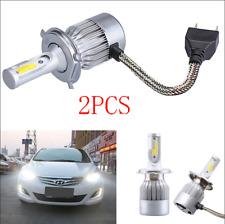 2PCS 6000K COB H4 C6 7600LM 72W LED Car Headlight Kit Hi/Lo Turbo Light Bulbs