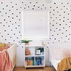 200 Dalmatian Spots Vinyl Wall Decal Sticker Polka Dot Print Bedroom Nursery