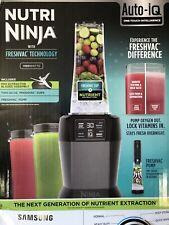 Nutri Ninja BL580 Blender with FreshVac Technology 1100-Watt Auto-iQ Base--NEW--