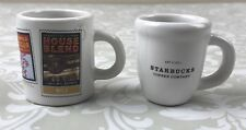 "Starbucks Collectibles 2004 Two Mini Mugs 2"" RARE Discontinued Home Decor"