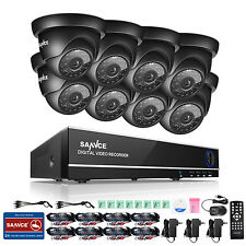 SANNCE 8CH 1080N HDMI DVR 1500TVL HD IR CCTV Video Home Security Camera System