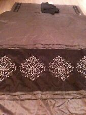 Chris Madden JC Penny Chocolate Brown Comforter, (2) Pillow Shams and Bed skirt