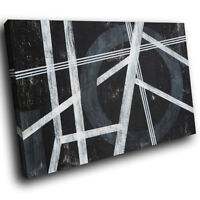 AB1770 Black White Grey Modern Abstract Canvas Wall Art Large Picture Prints
