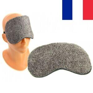 Grand Masque de Nuit Cache Yeux de Voyage Sommeil Confort Coton 19 x 10 cm