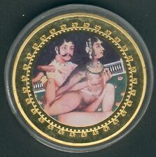 """1 Coin(gilded)/Medal 40mm, 27g, Kamasutra """"Stutenstellung"""" Proof Like+Zertifikat"""