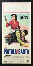 CINEMA-locandina-poster LA PISTOLA NON BASTA MAN FROM DEL RIO quinn, HORNER