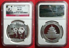 2010 Chinese Silver Panda 1oz .999 Bullion Coin. NGC MS 69