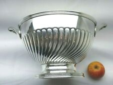 More details for victorian silver plated punch bowl by henry hodson plante, large fruit rose bowl