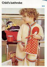 Child's Bathrobe Cavendish Crochet Pattern/Instructions Leaflet NEW