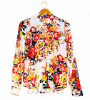 New Ladies Womens Chiffon Shirt Print Long Sleeve Blouse Casual Tops