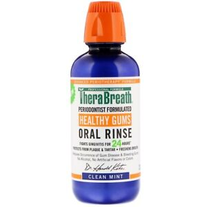 TheraBreath, Healthy Gums Oral Rinse, Clean Mint Flavor, 16 fl oz (473 ml)
