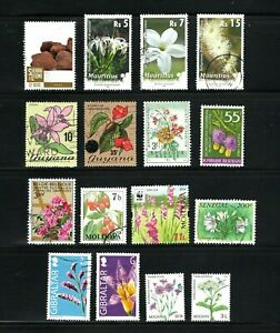 Flowers -- 16 diff used -- 7 countries -- cv $8.05