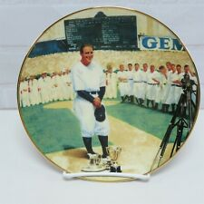 Lou Gehrig THE LUCKIEST MAN The Legends of Baseball Collectors Plate 1993