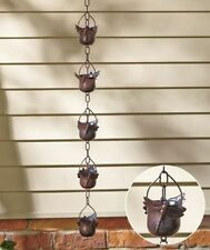 "Decorative Dragon Iron Rain Chains Porch Patio Deck Home Decor. 36"" High"