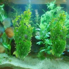 1pc Fish Tank Aquarium Air Stone Base Green Plastic Grass Plant Ornament