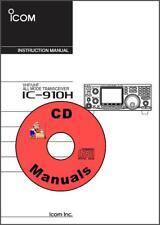 Icom IC-910H VHF/UHF CD OWNER'S & SERVICE MANUALS Radio Book CD KJ4IYE