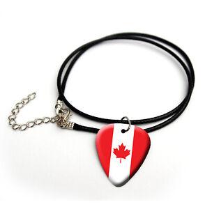 Canada Canadian Maple Flag United Kingdom guitar pick plectrum picks Necklace