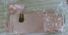 PINK STRETCH BOW BRIDAL FORMAL GLOVES ONE SIZE FITS ALL NYLON SPANDEX