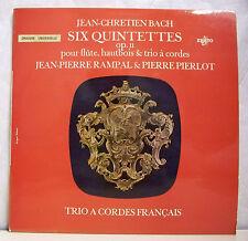 """33T Jean Chretien BACH RAMPAL PIERLOT Disque LP 12"""" SIX QUINTETTES Classique"""