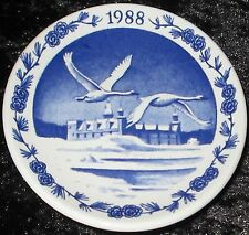 1988 Royal Copenhagen Fayence MINI PIATTO DI NATALE/CHRISTMAS PLAQUETTE