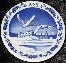 1988 ROYAL COPENHAGEN FAYENCE MINI WEIHNACHTSTELLER / CHRISTMAS PLAQUETTE