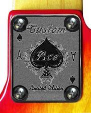 Neck Plate Neckplate Chrome Fender Strat Tele P Bass J Bass Electric Guitar Ace