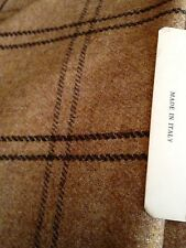 "Beautiful Italian Superior Wool Check Fabric 61"" 154cm Cloth Suit Dress"