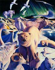 """ARCTIC MYSTERY"" Polar Bear Wolf Owl Seal 100 Pieces BOXLESS Jigsaw Puzzle *NEW*"