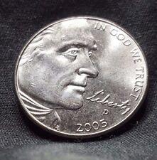 2005-D 5C BU Bison Jefferson Nickel, Free Shipping