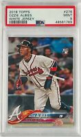 OZZIE ALBIES ROOKIE 2018 TOPPS CARD #276 PSA GRADED MINT 9 ATLANTA BRAVES Lot 71