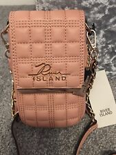 BNWT River Island Bag Dusky Pink Quilted Crossbody / Shoulder Bag