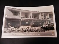 Long Beach California CA Earthquake Damage Building Real Photo Rppc Car Stores