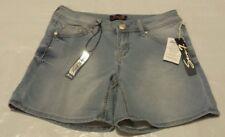 NEW Seven 7 Women's Knit Denim Jean Shorts Powell Blue Size 12 $49 Retail