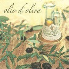 2 Serviettes en papier Huile D/'Olive Decoupage Paper Napkins Oil Olio di Oliva
