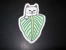 RIPNDIP Skate Sticker CAT LEAF rip n dip skateboards helmets decal