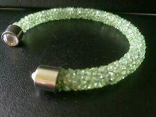 Bracciale cristallo Light Green Star Dust Matrimonio Prom sposa Compleanno Mamma Sorella.