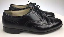 Men's 12 D - Florsheim Comfortech Black Leather Wing Tips Lace Up Dress Oxfords