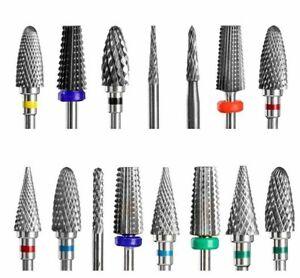 Cone Carbide Tungsten Nail Drill Bit Manicure Drill For Milling Cutter Nail File